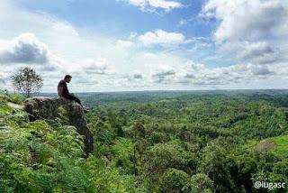 pose nspirasi nikmati pesona batu dinding Borneo