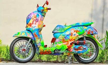 Modifikasi Honda Scoopy