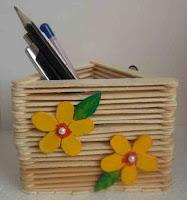 Cara Mudah Membuat 2 Tempat Pensil dari Stik Es Krim