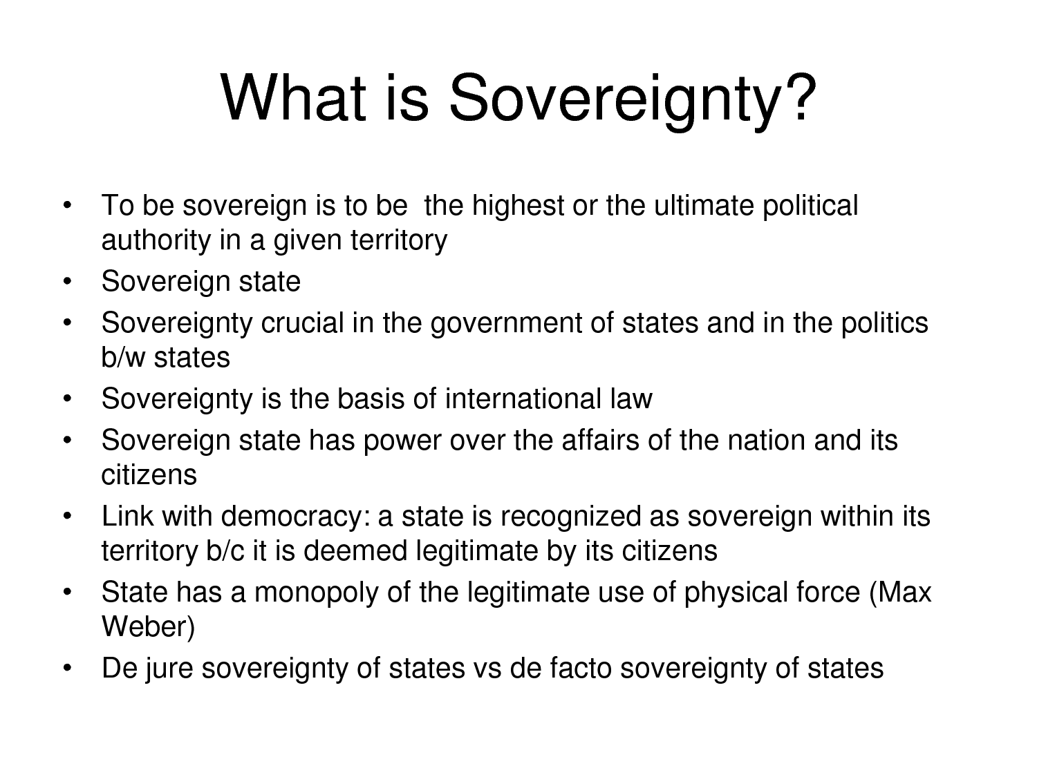 What is sovereignty 38