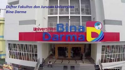 Daftar Fakultas dan Jurusan Universitas Bina Darma Palembang Terbaru