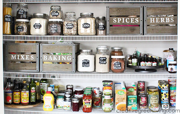 how to organize a pantry - farmhouse style pantry organization ideas