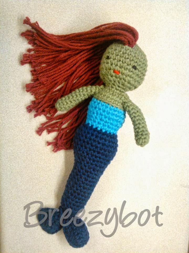 Crochet Mermaid doll pattern | Amiguroom Toys | 960x720