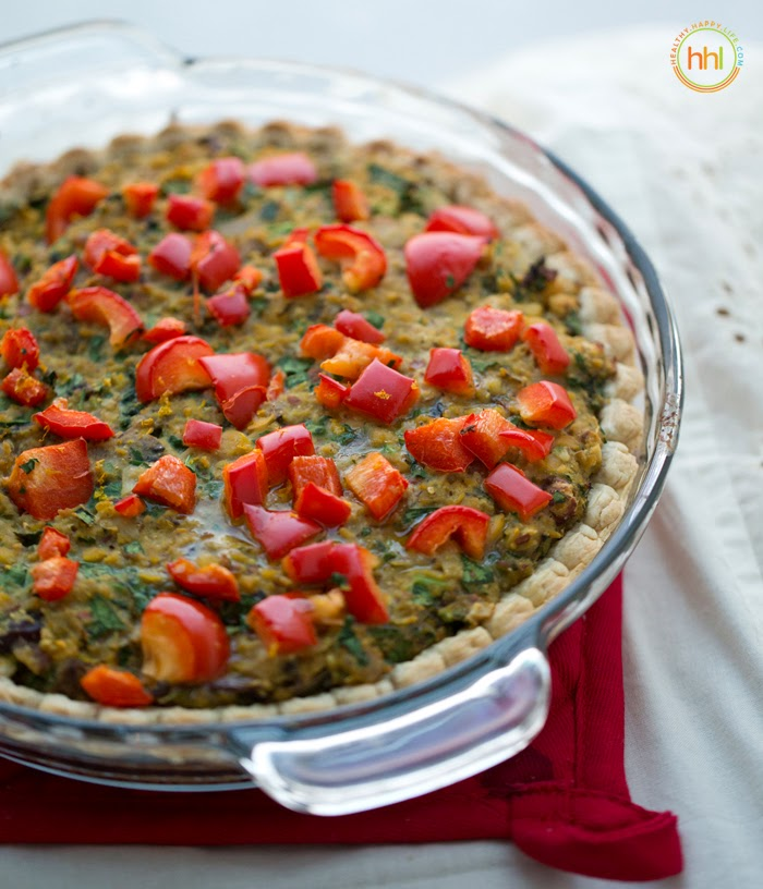 Vegan Holiday Main Dish: Mushroom-Chickpea-Hazelnut Tart
