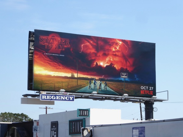 Stranger Things 2 billboard