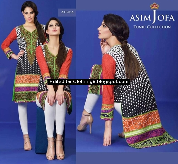 Asim Jofa Tunic Collection 2016 Catalog With Prices