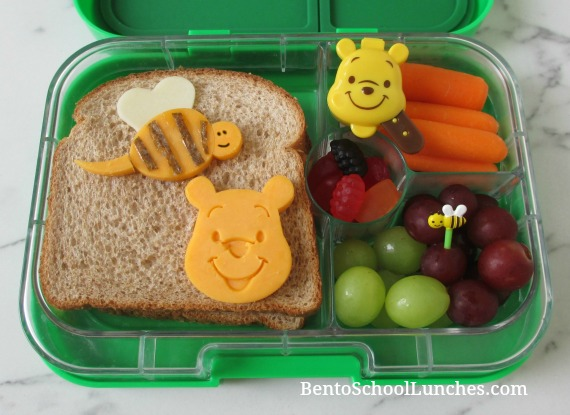 Winnie The Pooh and Bee school lunch in Yumbox