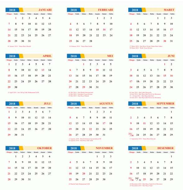 Download kalender 2018 M