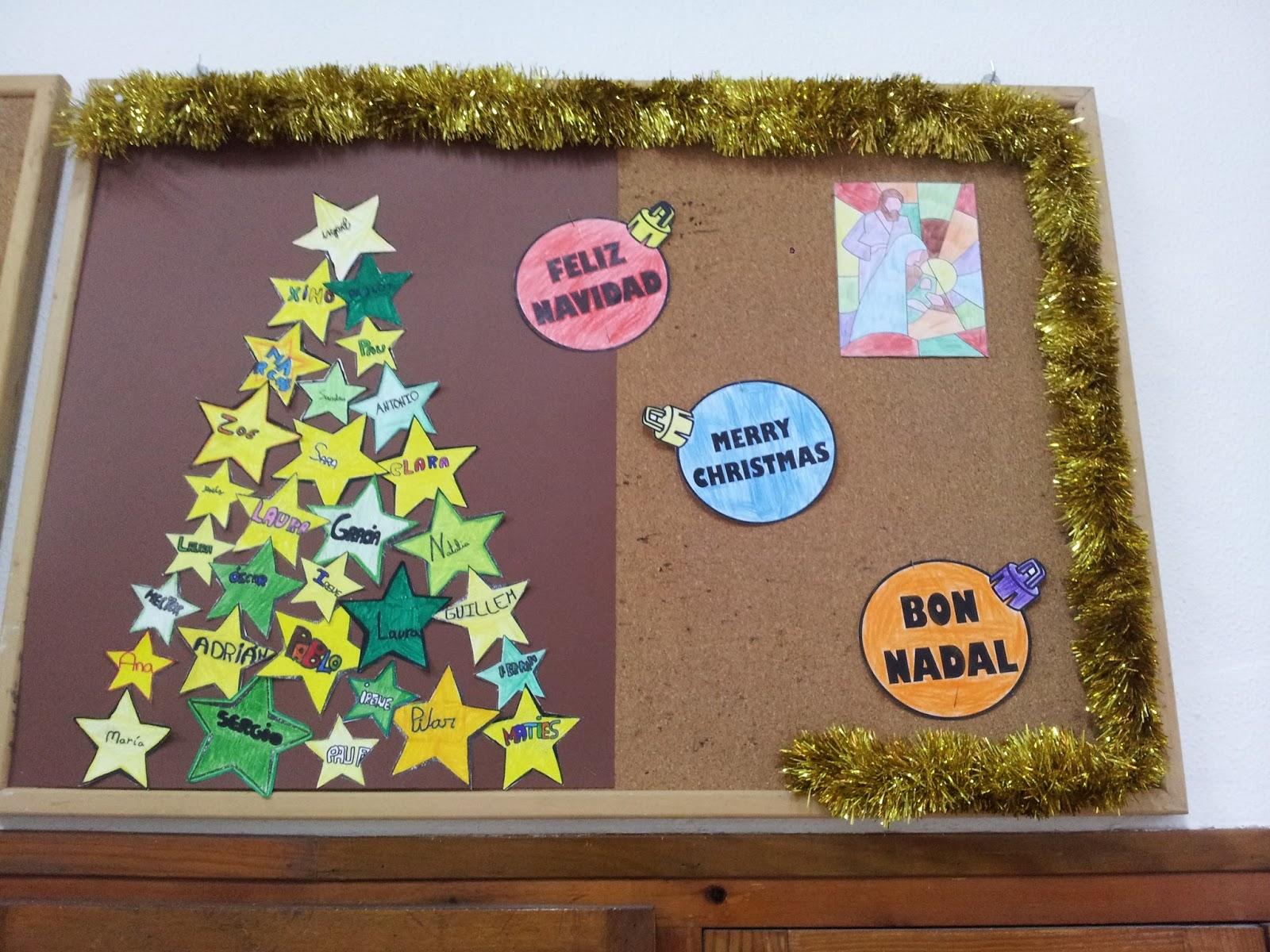 El gran equipo de cuarto nuestros murales de adviento y - Murales decorativos de navidad ...