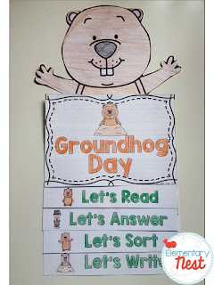 Groundhog Day Activities for teachers and students- hands on crafts, reading activities, books, and predictions. Groundhog Day fun in the classroom
