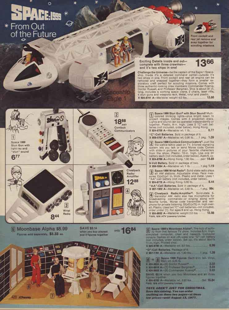 The Dork Review Space 1999 1970 S Sears Catalog Ad