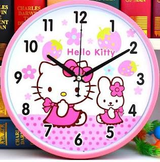 Gambar Jam Dinding Hello Kitty 5