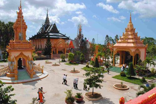 Toàn cảnh chùa Xiêm Cán
