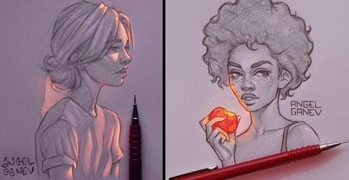 Drawing Art Angel Ganev