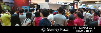Sony Roadshow is back @ Gurney Plaza, Providing Penangites with wide variety of Sony high quality and latest products.