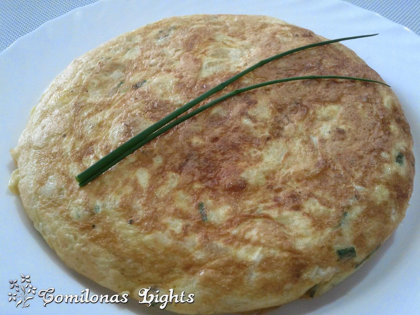 Patata Porner comilonas lights: tortilla de patatas con cebollino