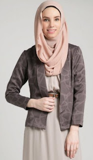 Baju Kerja Wanita Blazer Muslim Berjilbab
