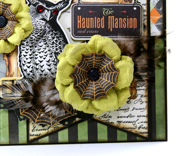 The Haunted Mansion Card by Ginny Nemchak using BoBunny Wonderfully Wicked