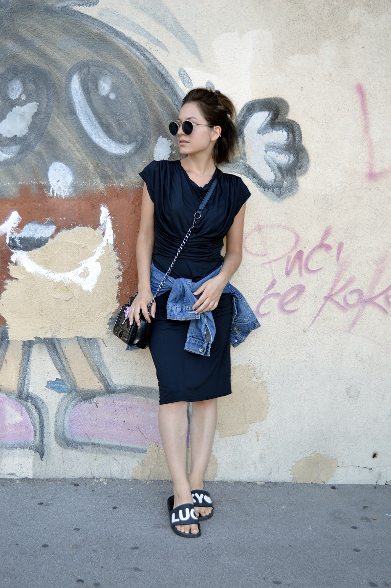 casual in little black dress lbd