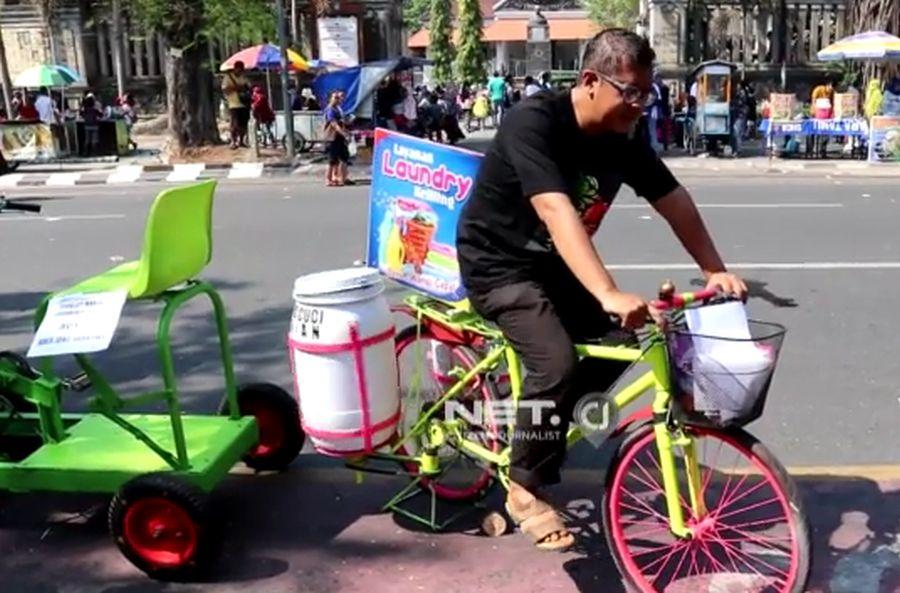 Sepeda Ternyata Bisa Disulap Menjadi Penggerak Mesin Cuci Manual Dan  Forklift cb5d176f96