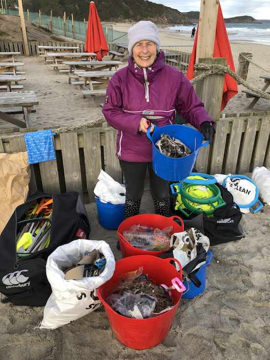 70 year old Grandmother Pat Smith spent 52 weeks of 2018 cleaning up 52 British beaches