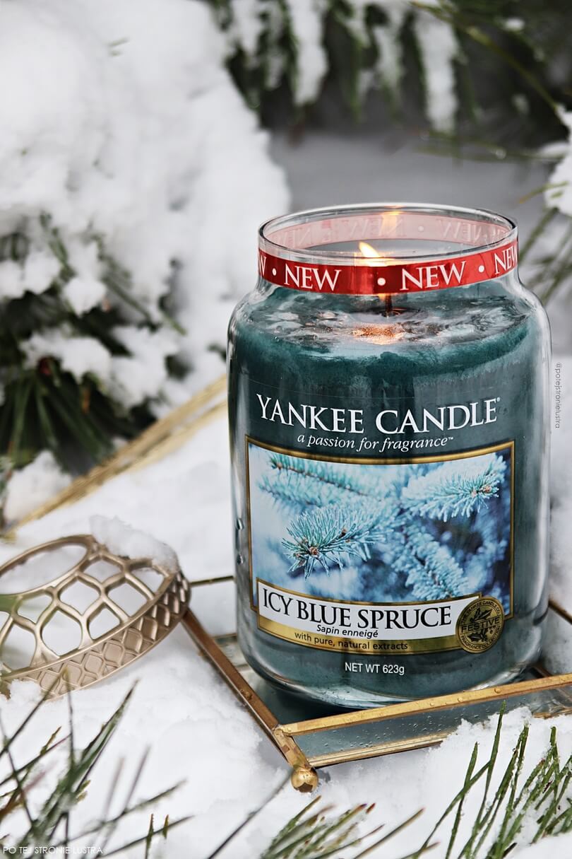 zapach yankee candle na zimę 2018 icy blue spruce