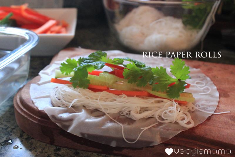 easy rice paper rolls