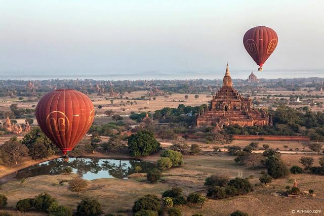 Resultado de imagem para Passeio de Balão sobre Bagan
