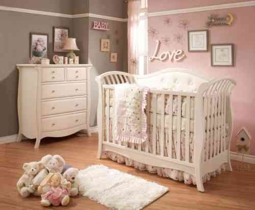 chambre bébé fille vintage
