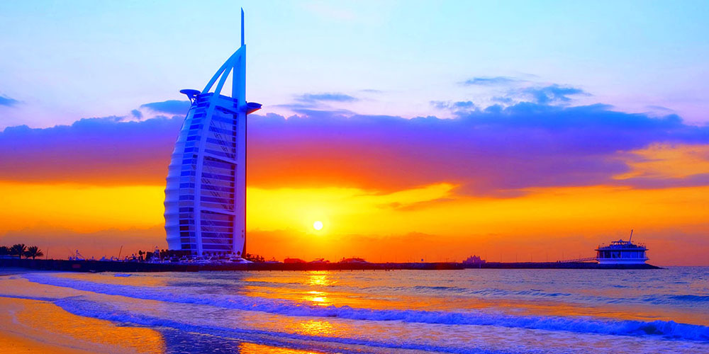 Vibrant Sunset colors in Dubai