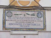 """Miguel de Cervantes Saavedra, Cervantes, Novelas ejemplares, """"Rinconete y Cortadillo"""", Sevilla"""