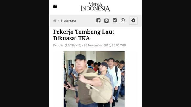 Media Milik Surya Paloh Angkat Berita TKA Kuasai Pekerja Tambang Laut, Said Didu: Tumben