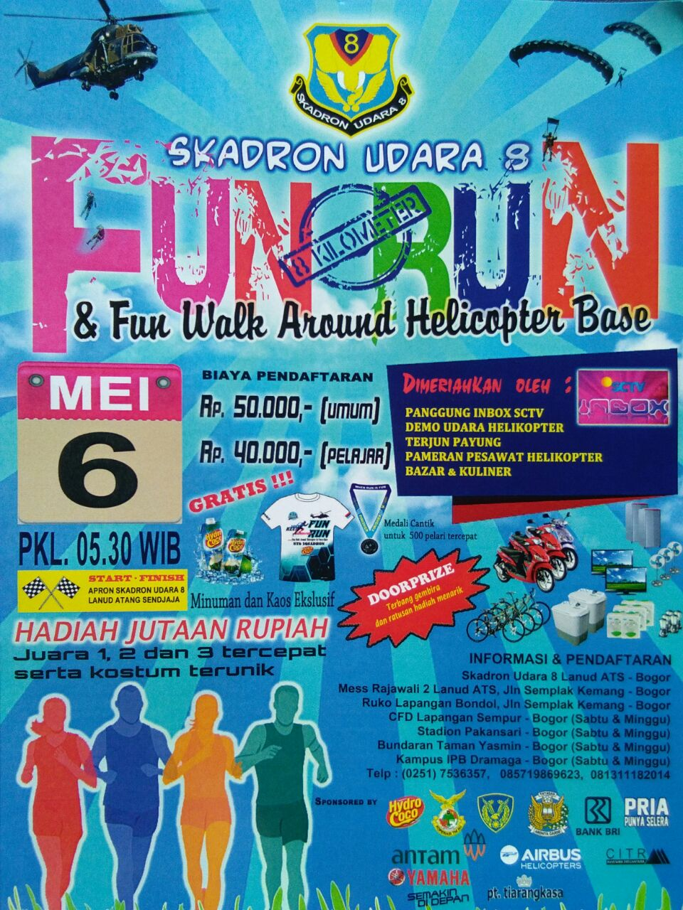 Skadron Udara 8 Fun Run • 2018