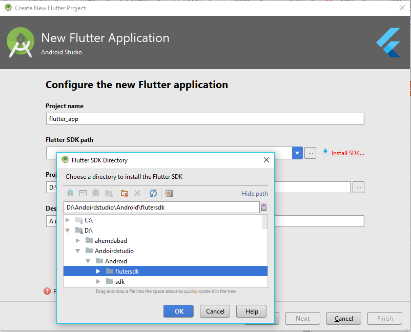 Create Flutter Application Using With Android Studio