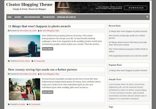 Cleator Blogger Template