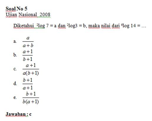 Soal Un Dan Jawaban Matematika Materi Logaritma Magister Matematika