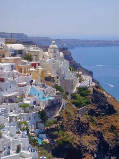Beautiful Santorini greece