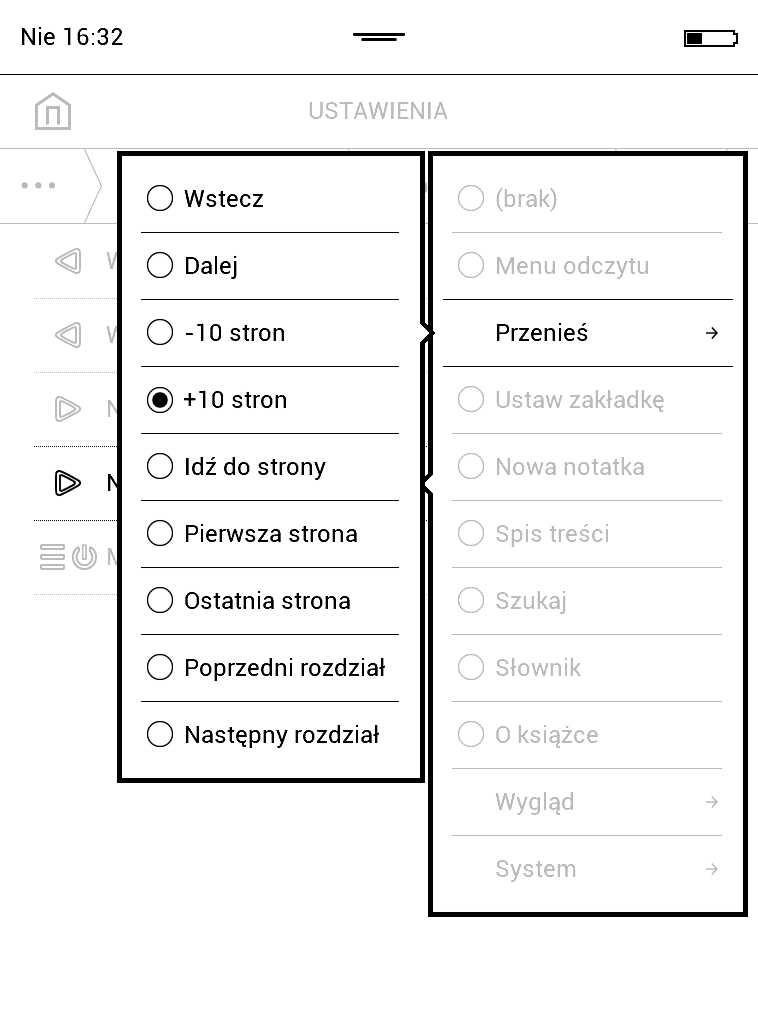 Mapowanie klawiszy w układzie EPUB FB2 na czytniku PocketBook Aqua 2