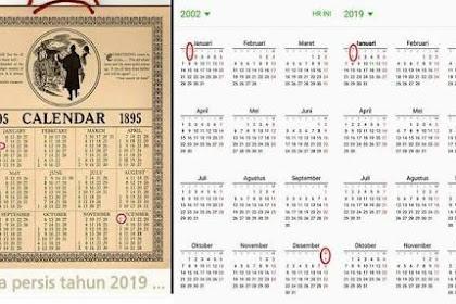 Ini Alasan Kalender 2019 Sama Persis Dengan 1895