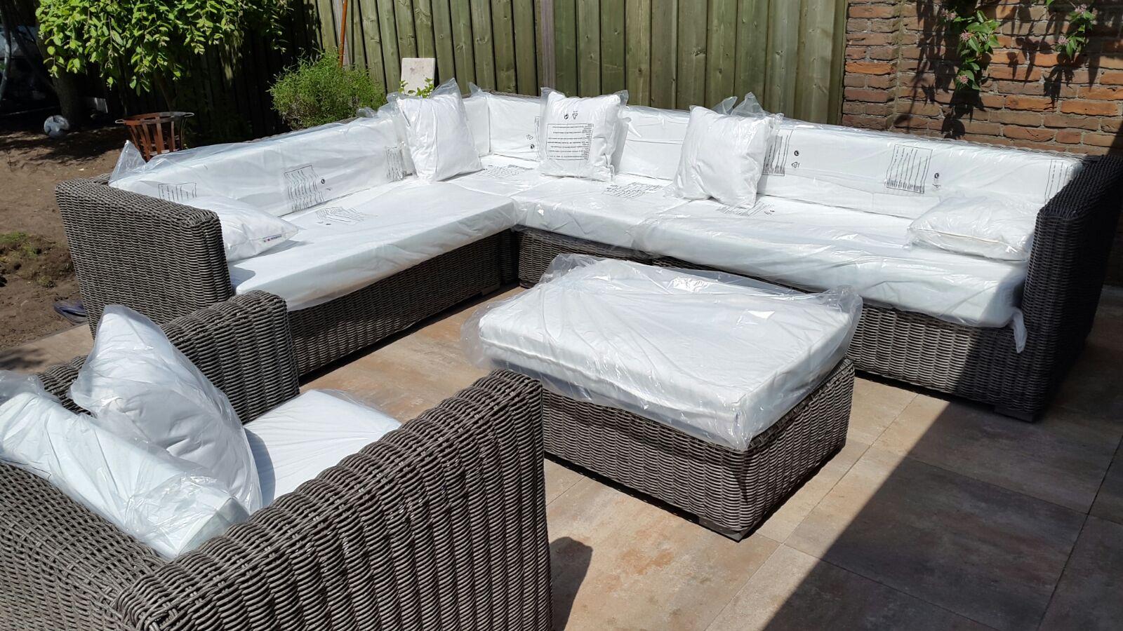 Houten tuin hoekbank buiten meubels talsma meubels houten for Intratuin loungeset