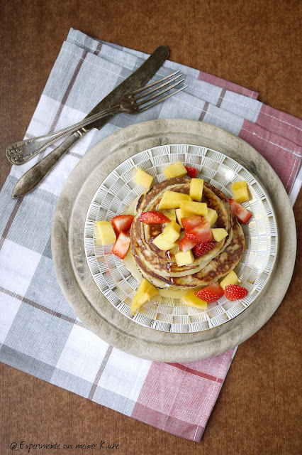 Experimente aus meiner Küche: Mangobuttermilch-Pancakes