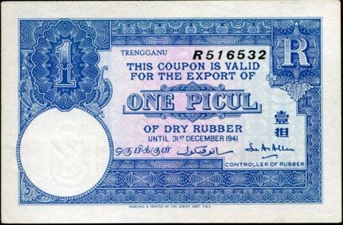 Lot 264-Terengganu Rubber Coupon 1 Picul