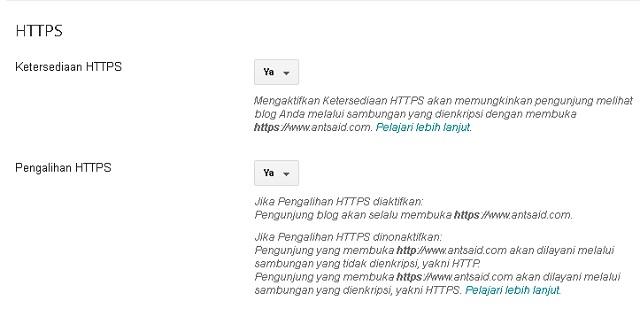 Cara Mengaktifkan HTTPS pada Custome Domain Blogspot