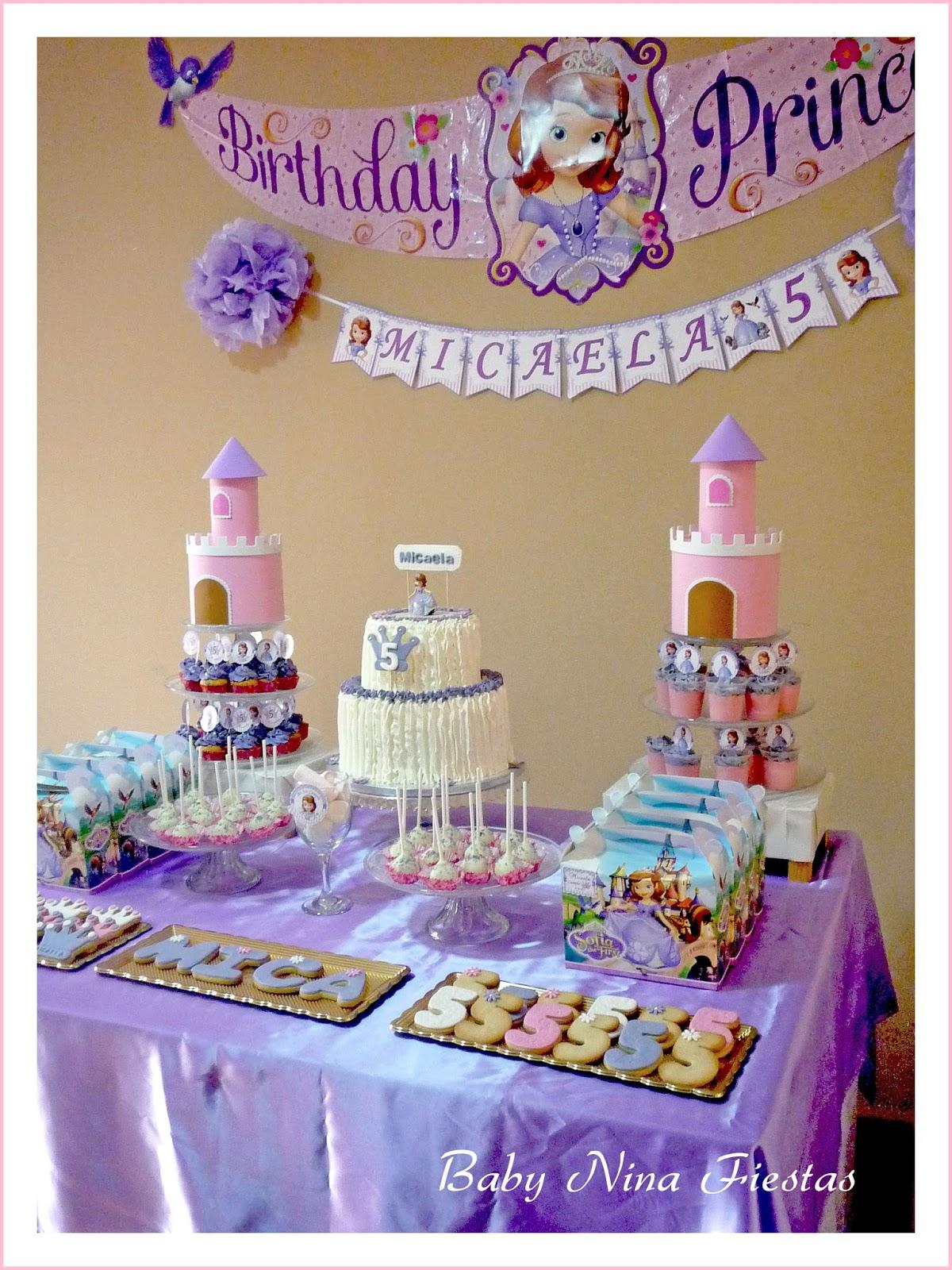 Baby nina fiestas mesa dulce tem tica princesa sof a para el 5to cumple de micaela - Ideas para decorar mesas de chuches ...