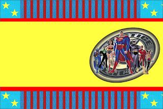 Para hacer invitaciones, tarjetas, marcos de fotos o etiquetas, para imprimir gratis de La Liga de la Justicia.
