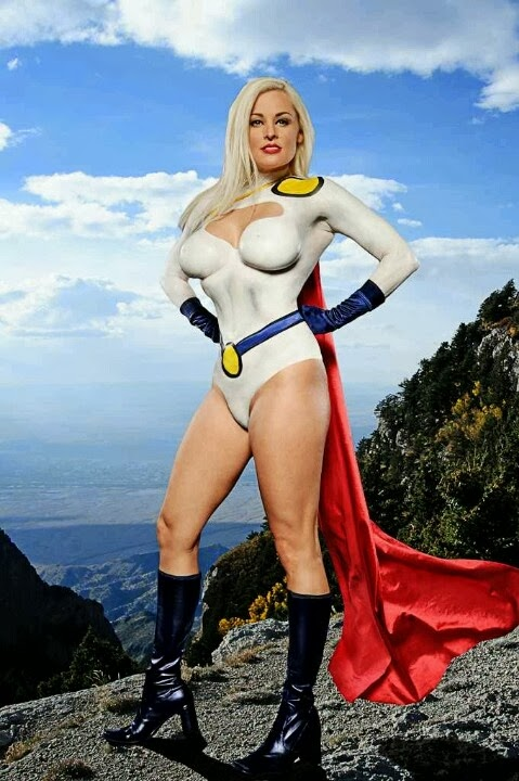 Body Painting sexy cosplay - Power Girl