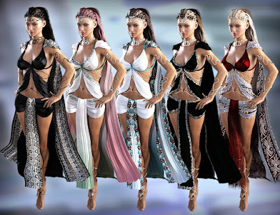 FireBride Dress for Genesis 2 Female and Genesis 3 Female