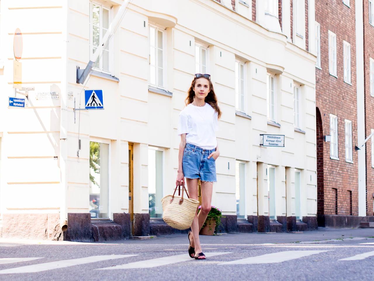 muoti-tyyli-inspiraatio-helsinki-kesä-bloggaaja-levis-farkkushortsit