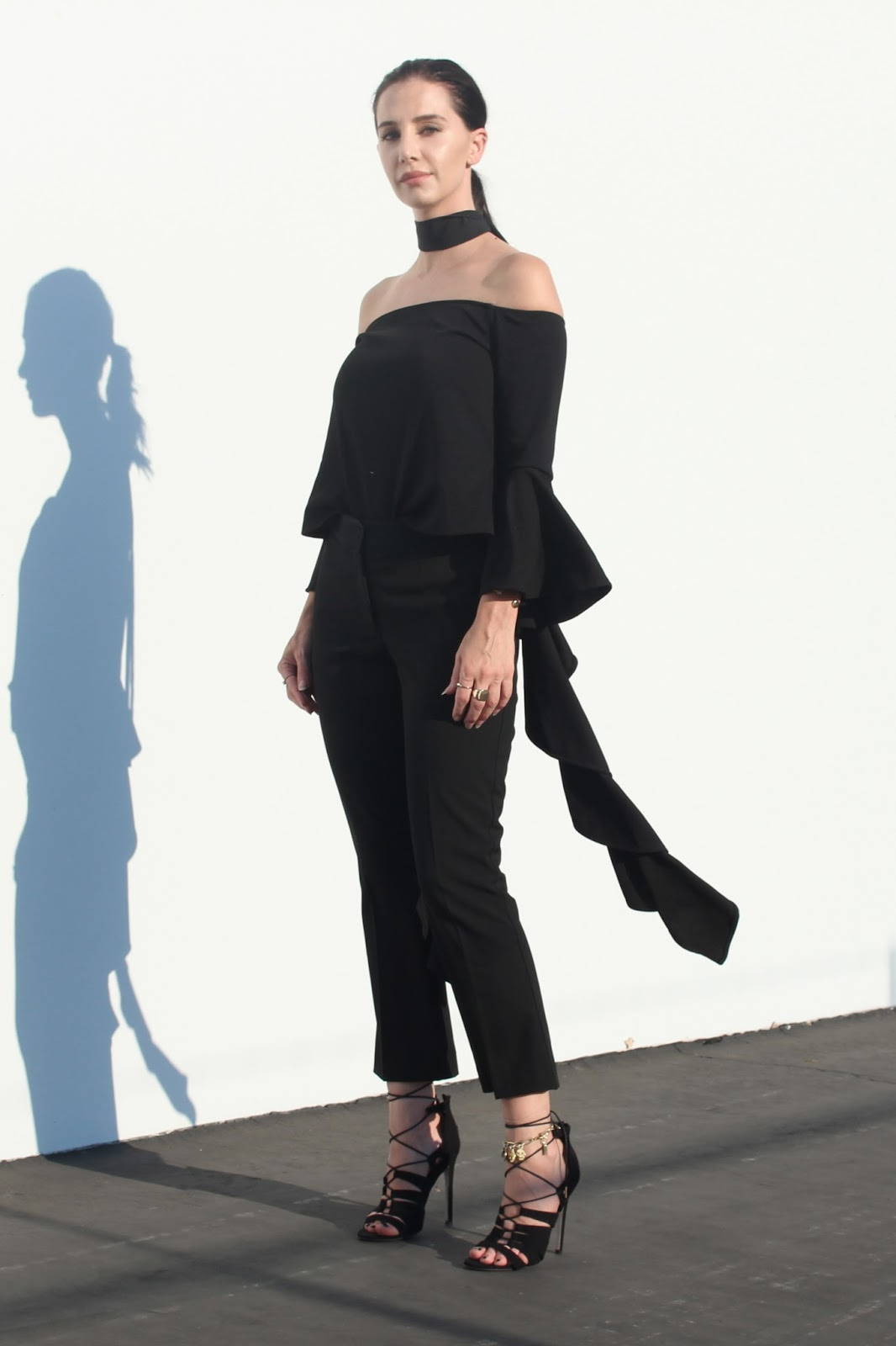 cropped-flares-off-shoulder-top