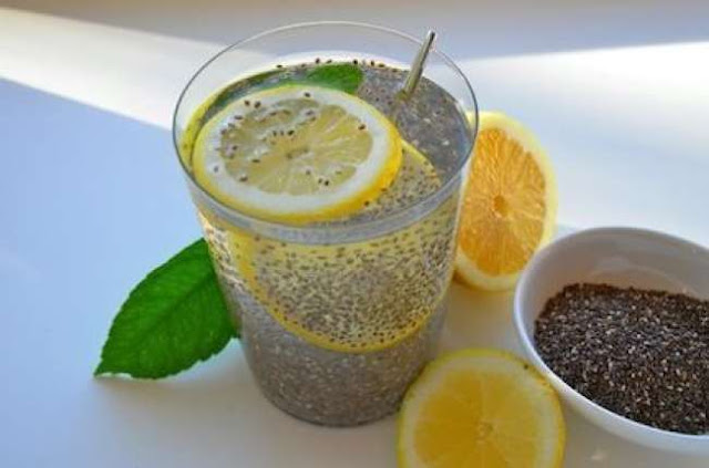 DRINK LEMON AND CHIA TO BURN ACCUMULATED FAT